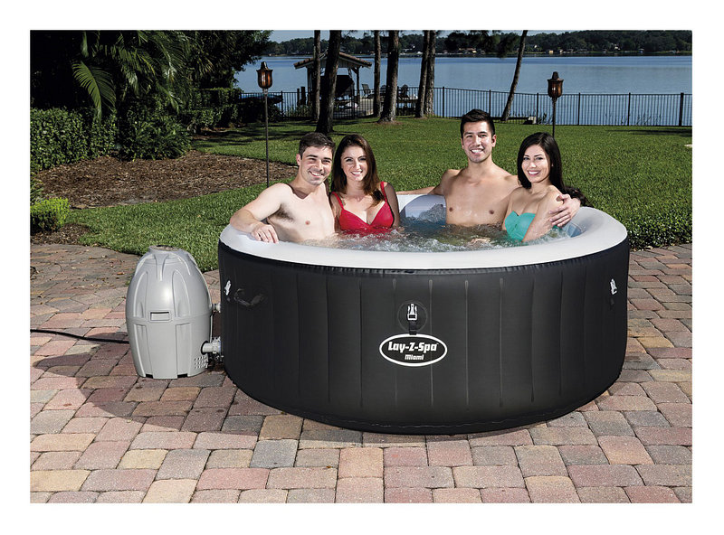 Jacuzzi Inflable Para 2 Personas.Spa Inflable 2 4 Personas 669 Litros Miami Airjet Lay Z