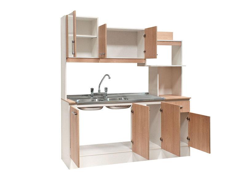 Kit cocina 7 puertas 1 cajón lavaplatos y grifería Aconcagua ...