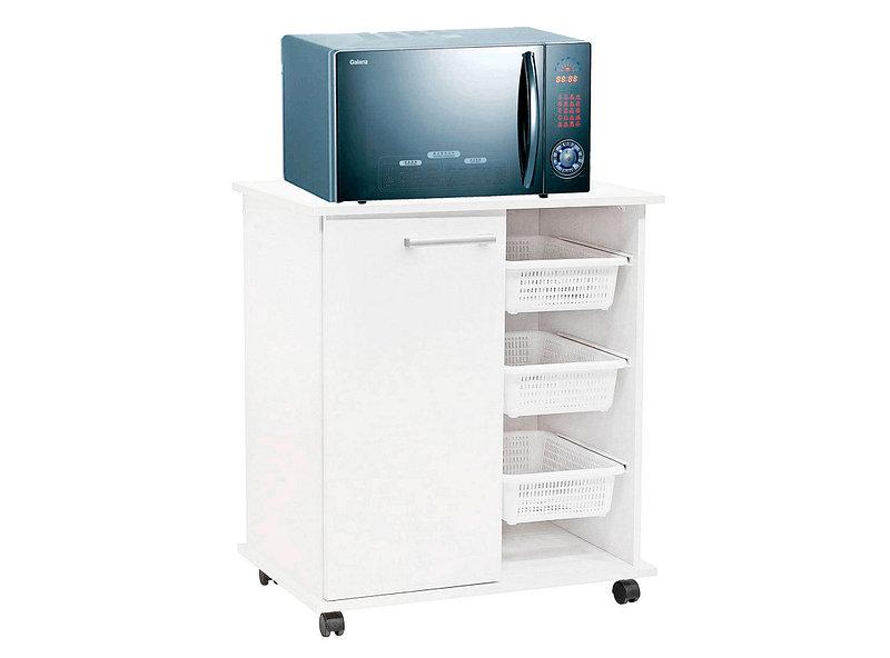 Mueble cocina 68 cm 1 cajón microondas verdulero blanco Mobikit ...