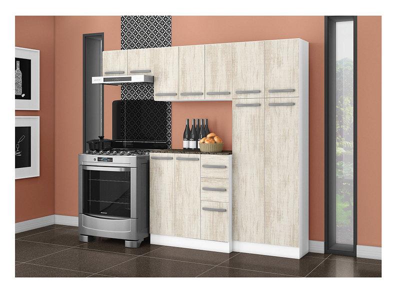 Kit Cocina 11 Puertas 3 Cajones Toledo Blanco Essence