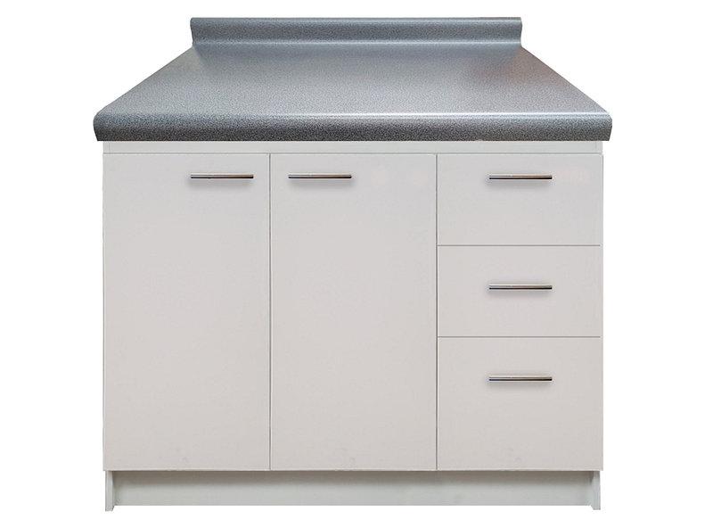 Mueble cocina con cubierta 120 cm blanco Nuovo - Easy.cl