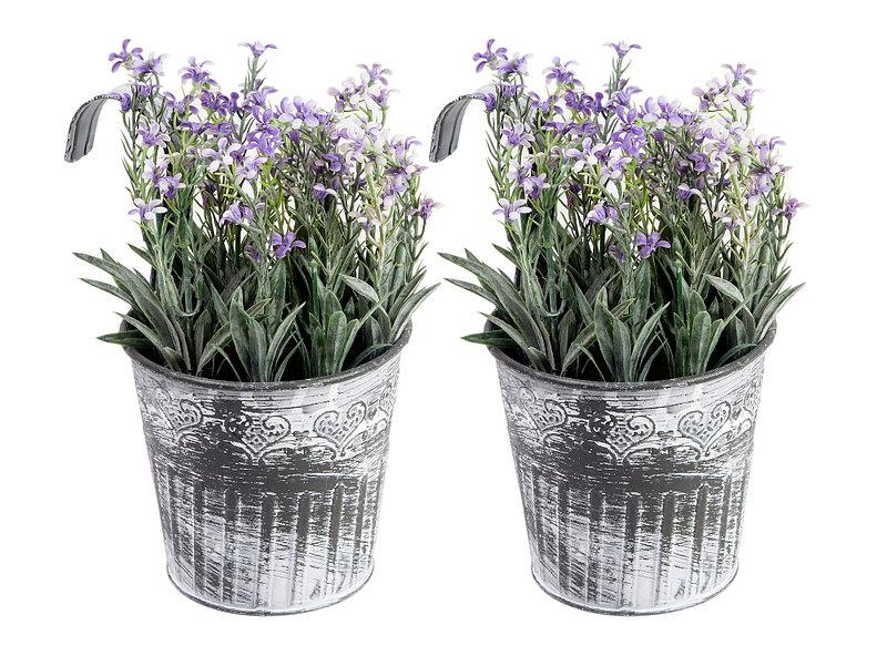Arreglo Floral Artificial Morado 2 Unidades Sohogar Easycl